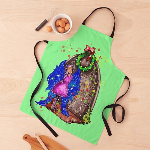 hollydays shimmer apron