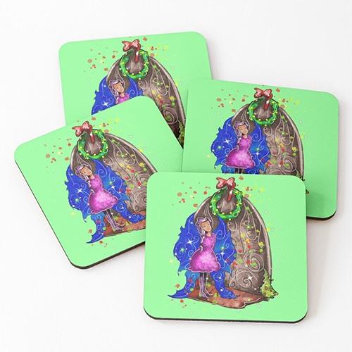 hollydays shimmer coasters