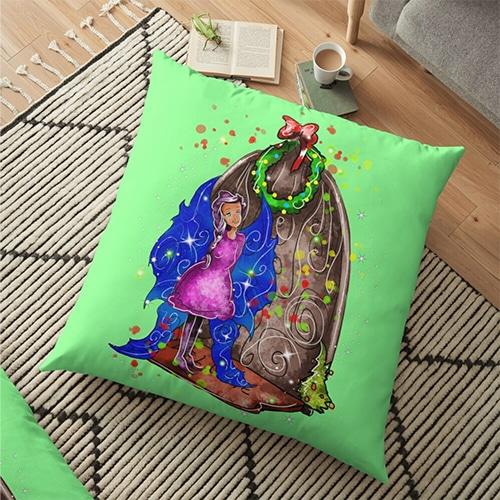 hollydays shimmer pillow