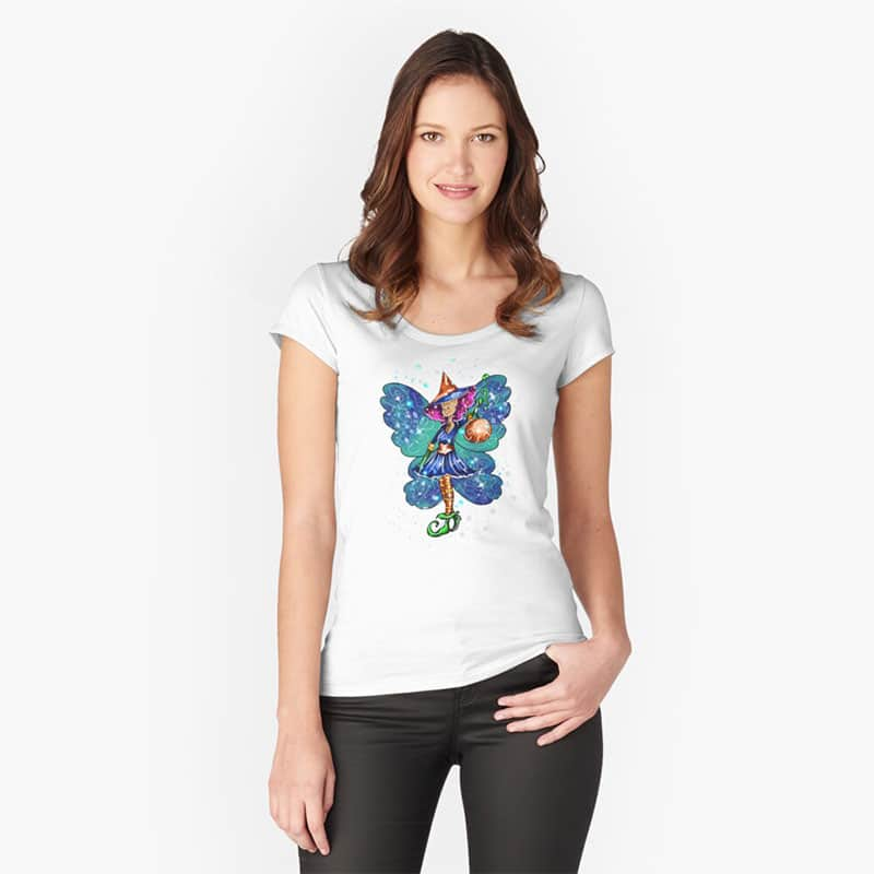 issy the halloween party fairy™ fitted scoop t shirt