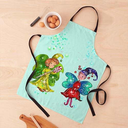 mini snap apron