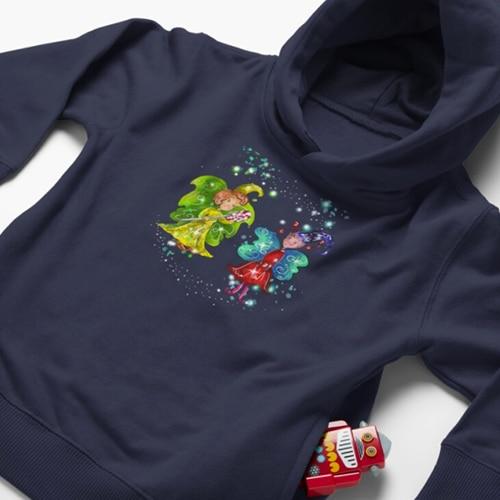 mini snap baby hoodie