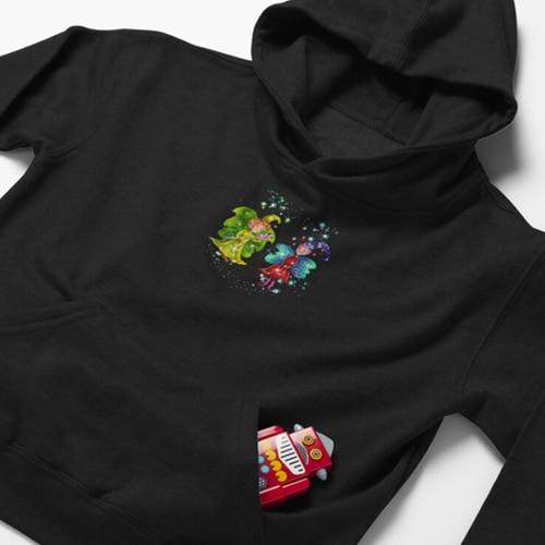 mini snap kid hoodie