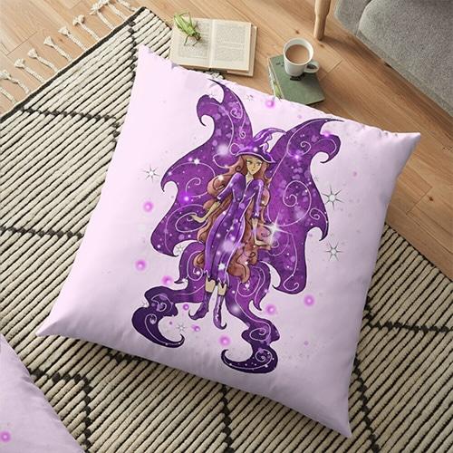 ms spooktacular floor pillow