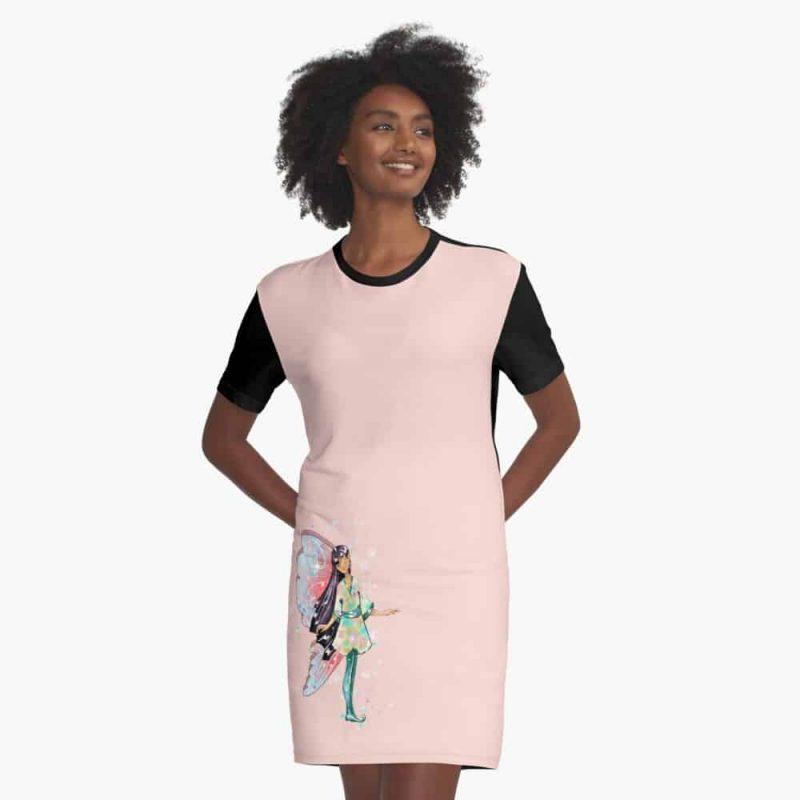 Amaya The Asian Inspired Fairy™ Graphic T Shirt Dress