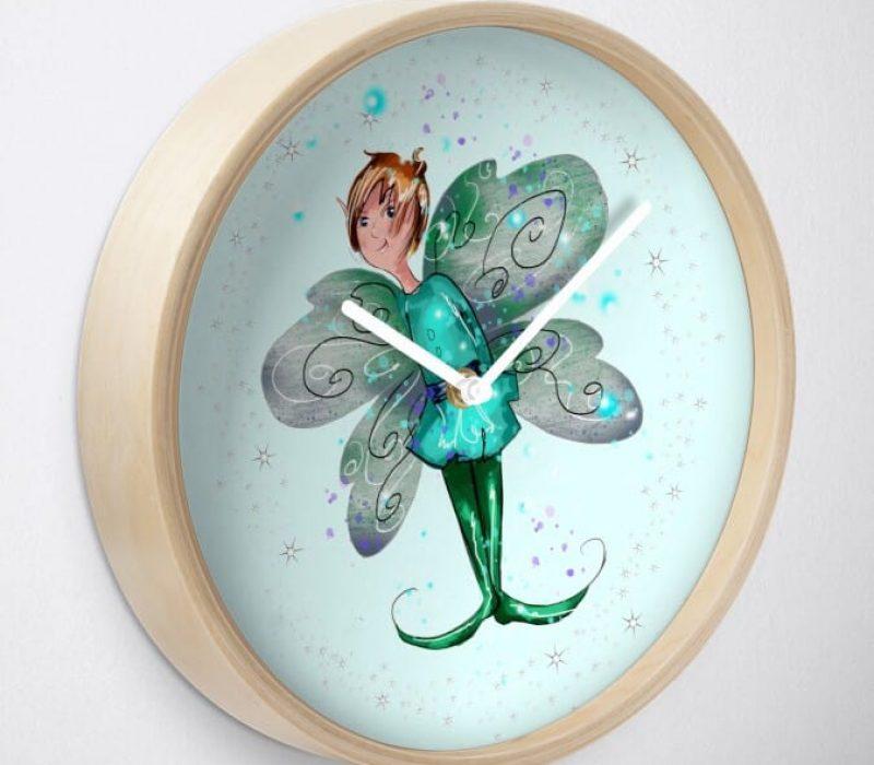 Brokk The Boy Fairy™ Clock