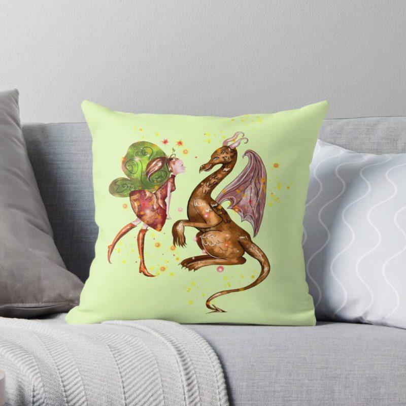 Desta The Dragon Fairy ™ Throw Pillow