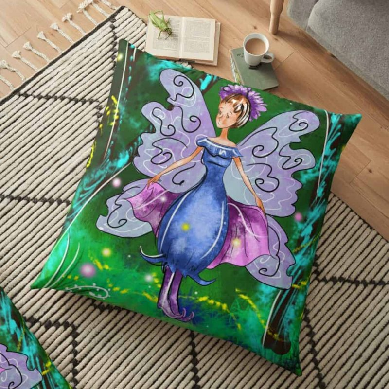 Esme The Enchanted Forest Fairy™ Floor Pillow