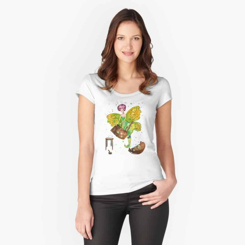 Fala The Furniture Fairy™ Fitted Scoop T Shirt