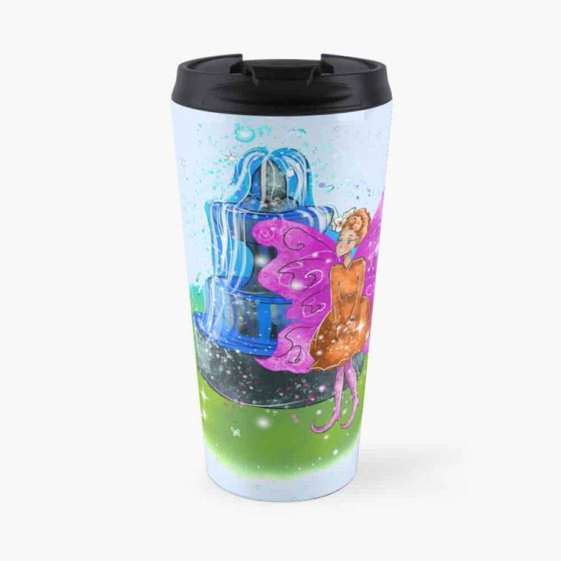 Fatunie The Birdbath And Fountain Fairy™ Travel Mug