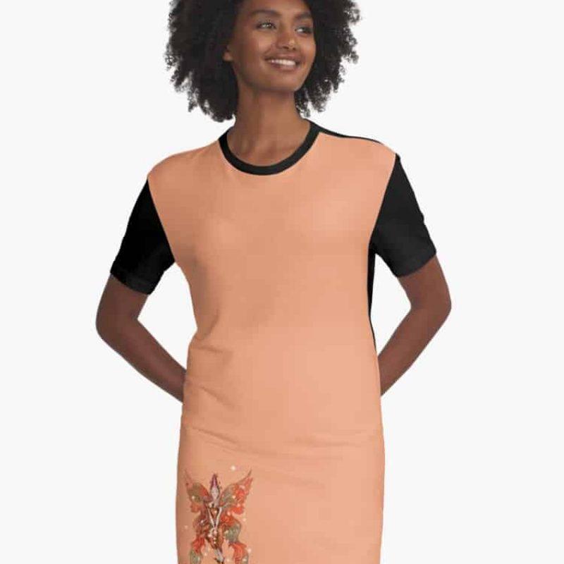 Faylin The Fall Fairy Graphic T Shirt Dress