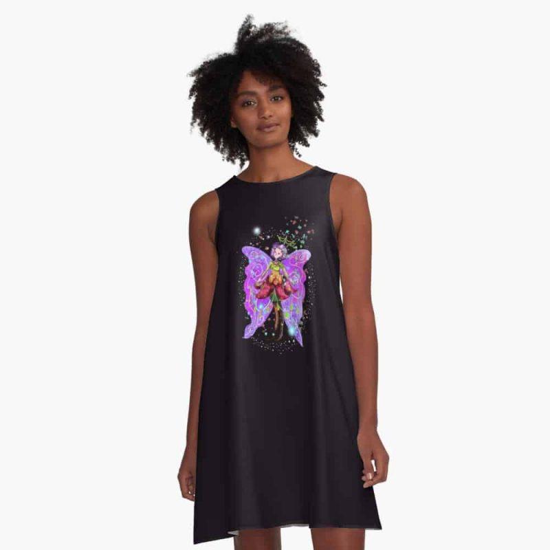 Jenessa The Jewelry Fairy™ A Line Dress