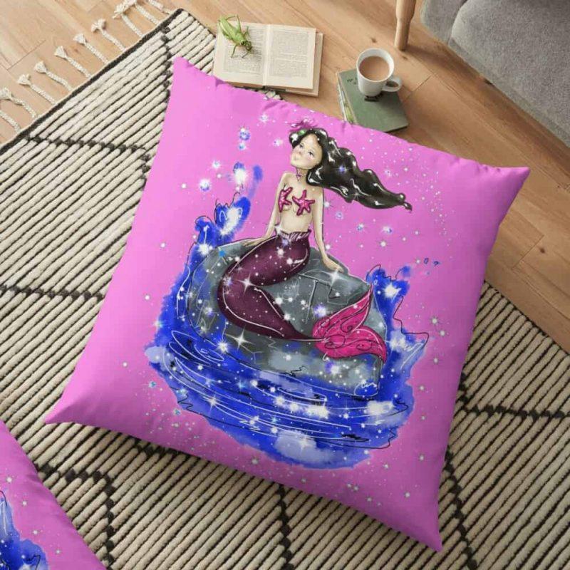 Mandy The Mermaid™ Floor Pillow