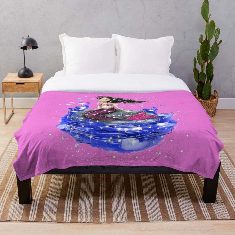 Mandy The Mermaid™ Throw Blanket