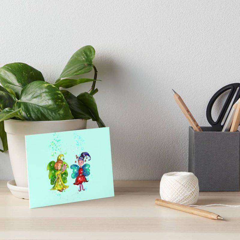 Mini Snap And The Micro Miniature Fairy™ Art Board Print
