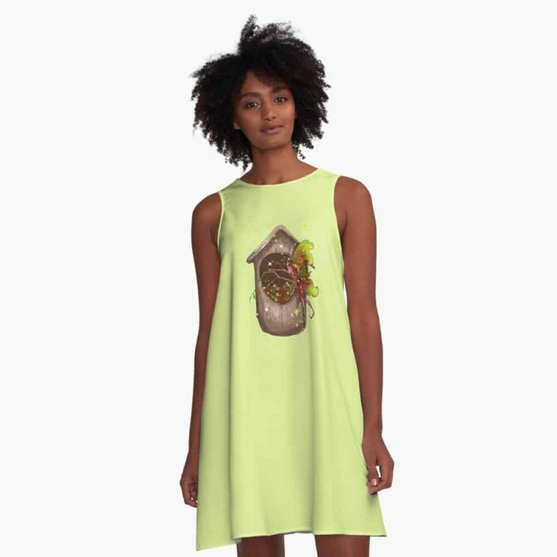 Nestie Shimmer The Birdhouses Nests Fairy™ A Line Dress
