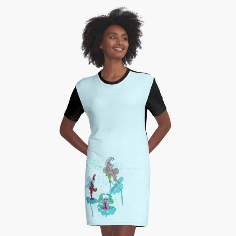 Philominia Pixie Fairy™ Graphic T Shirt Dress