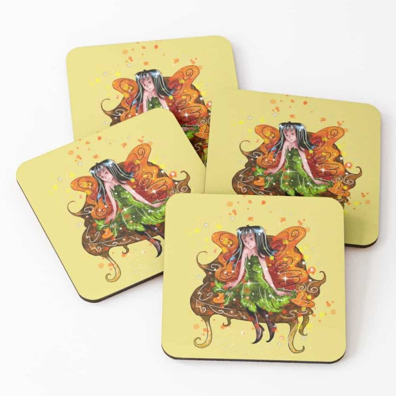 Rusini The Rustic Fairy™ Coasters (set Of 4)