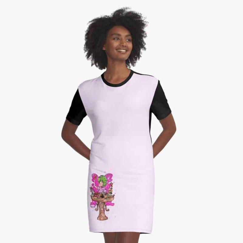 Saretta The Sweets, Foods, Refreshments Fairy™ Graphic T Shirt Dress
