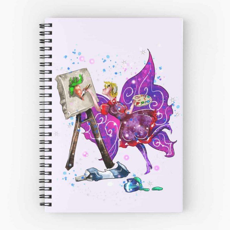 Tianna The T Shirt Fairy™ Spiral Notebook