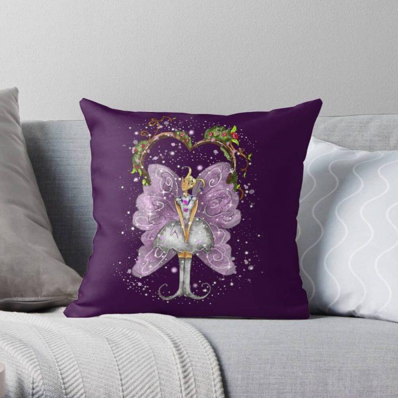 Trixy The Trellis Fairy™ Throw Pillow