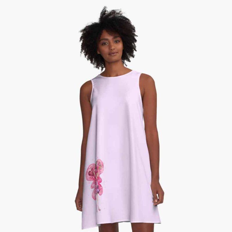 Vesta The Valentines Day Fairy™ A Line Dress