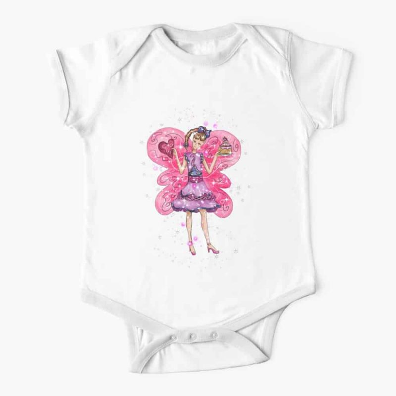 Vesta The Valentines Day Fairy™ Baby One Piece
