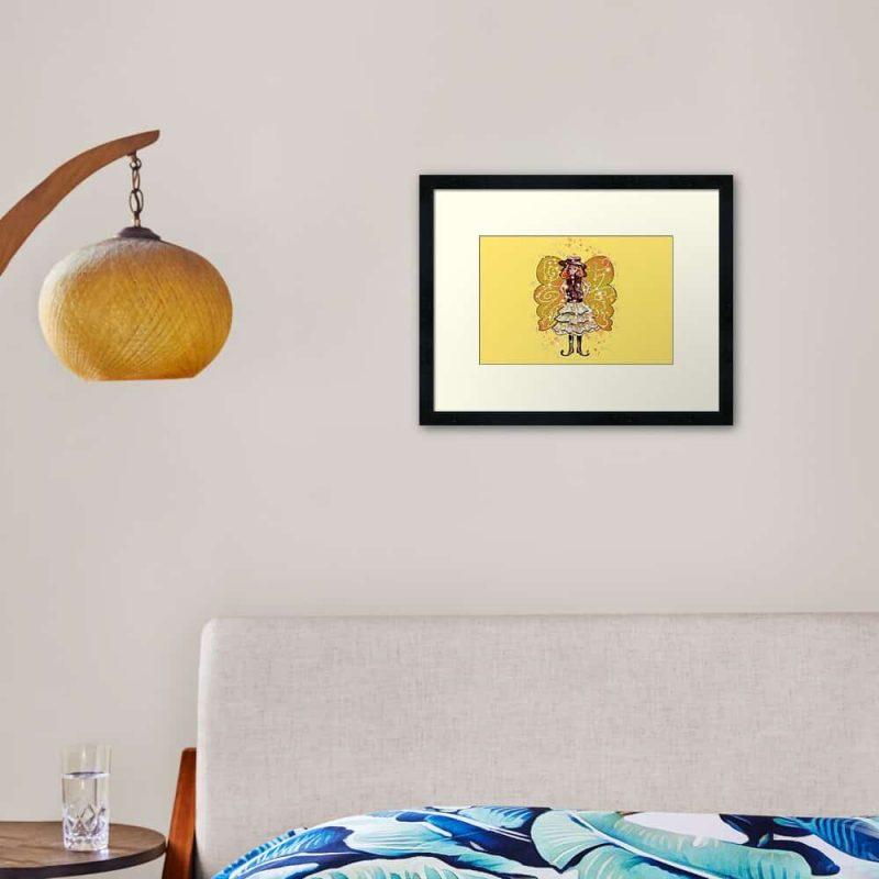 Willie Snap The Wild West Fairy™ Framed Art Print
