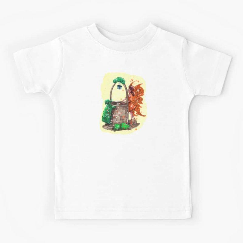 Wishitora The Wishing Well Fairy Kids T Shirt